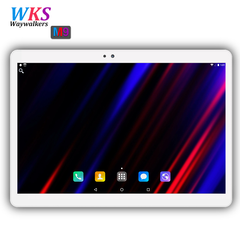 2018 Nuovo 10 pollice Octa Core 3g/4g Tablet pc 4 gb di RAM 64 gb ROM 1920*1200 Dual Camera Android 7.0 Compresse 10.1 di pollice di Trasporto libero