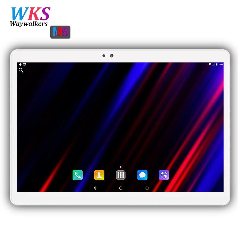 2018 nuevo 10 pulgadas Octa Core 3G/4G Tablet pc 4 GB RAM 64 GB ROM 1920*1200 cámaras duales Android 7,0 tabletas de 10,1 pulgadas envío gratuito