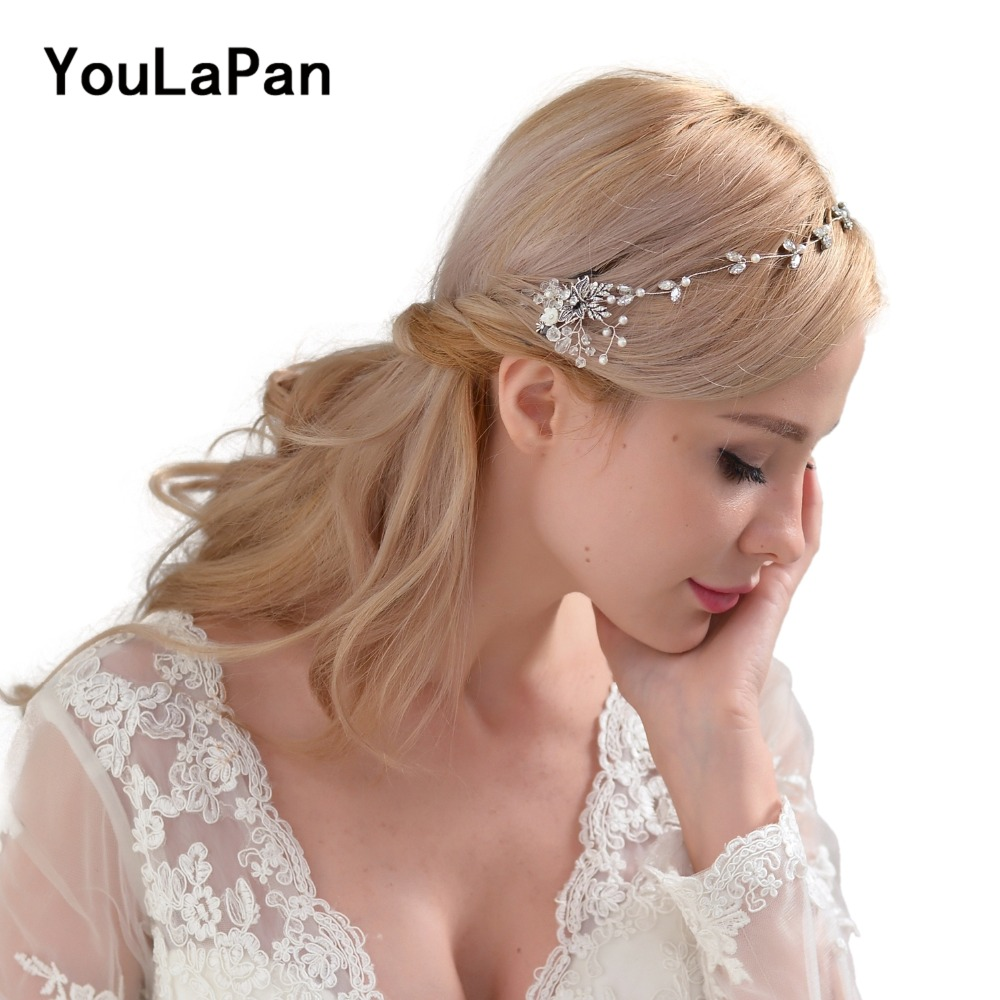 YouLaPan HP26 Hair Comb Hairbrush Wedding Hair Accessories Bridal Crystal Tiara Women's Jewelry Wedding Comb For The Bride
