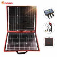 Dokio 80W Panel Solar 12 V/18 V Flexible Foldble del Panel Solar del usb célula Solar portátil Kit de barcos/Panel Solar de Camping por fuera