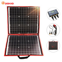 Dokio 80W Solar Panel 12V/18V Flexible Foldble Solar Panel usb Portable Solar Cell Kit For Boats/Out door Camping Solar Panel
