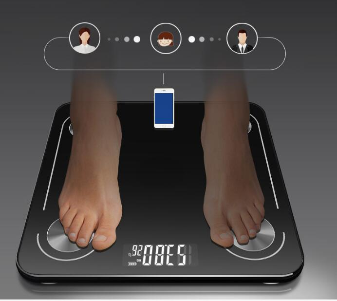 New Bluetooth Intelligent Body Fat Scale Electronic Weighing Scale Measuring Fat Healthy Body Scale Bathroom Scales freeshipping in Bathroom Scales from Home Garden