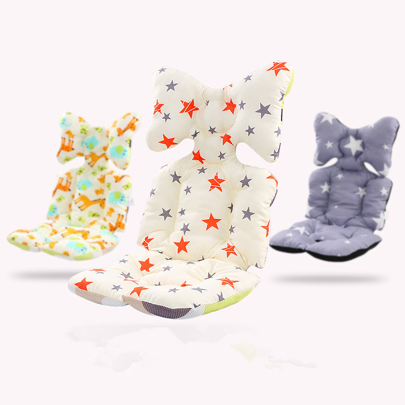 Baby Printed Stroller Pad Seat Warm Cushion Pad mattresses Pillow Cover Child