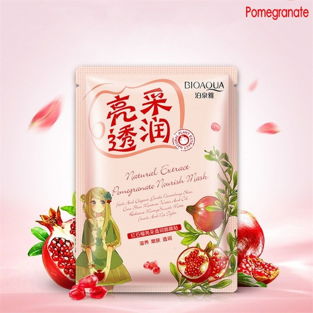 BIOAQUA Plant Extracts Aloe Face Masks Collagen Essence Facial Mask Moisturizing Firming Oil-control 4