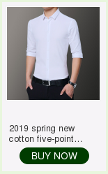 2019 spring new men's shirt Korean version of the self-cultivation youth casual business cotton shirt tide men's boutique shirt 24