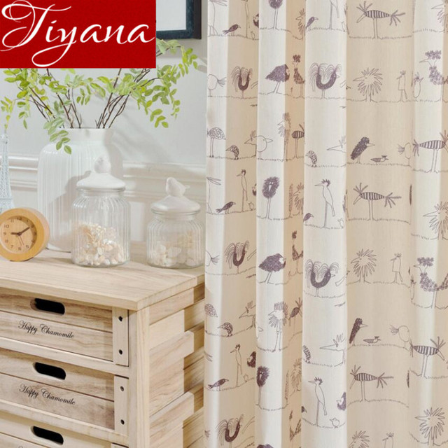 cartoon gordijnen kid jongens kamer print sheer voile window woonkamer tulle gordijnen gordijnen beige curtians stoffen