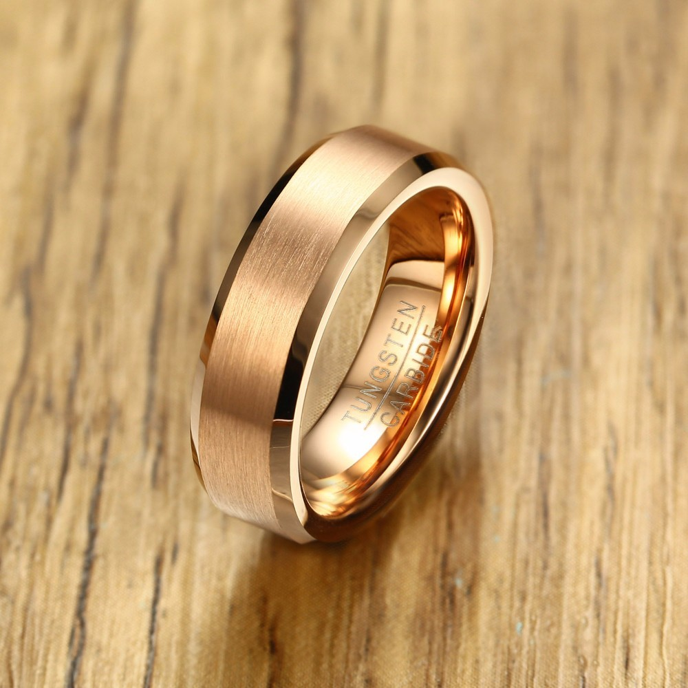 brushed and gold bevelled rings flat white palladium court platinum edge wedding
