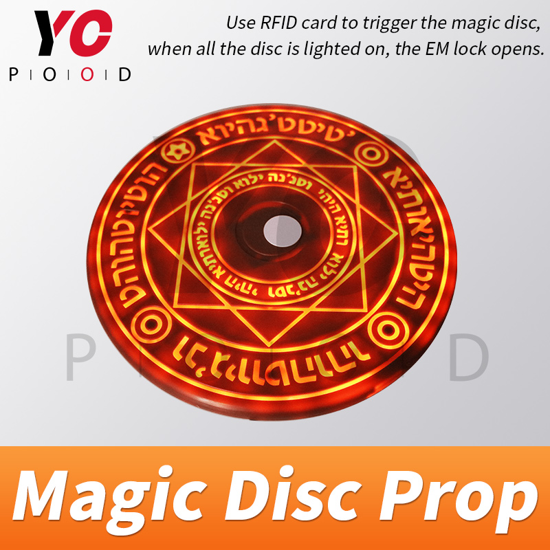 YOPOOD Magic Disc Prop Escape Room Real Life game use RFID card to trigger magic array be bright gradually until open takagism-in Access Control Kits from Security & Protection