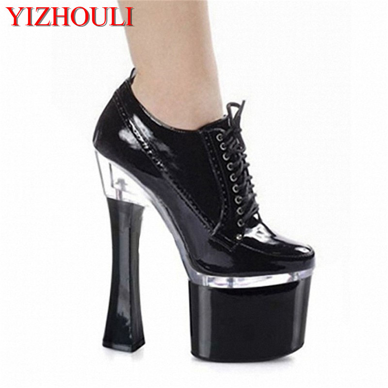 18CM Brand New Top Quality Platform Women Pumps 7 inch Thick with High Heels Women Shoes pole dancing shoes
