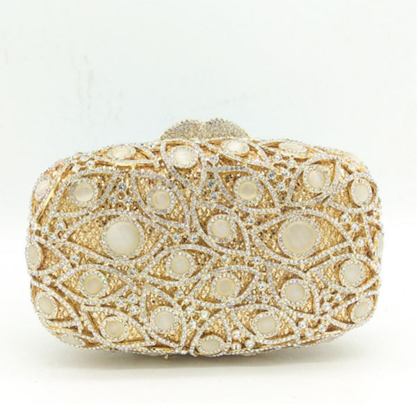 Fashion wedding Bridesmaid Clutch Bag gold full Crystal diamond party banquet Evening Bag dinner clutch purse for lady wallets