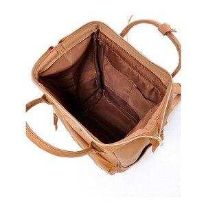 Image 4 - 日本ブランド PU レザーランドセルガールズ & ボーイズカレッジバッグ女性大容量リングバックパック