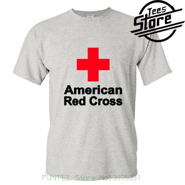 Shirts Summer Short Sleeve Novelty New American Red Cross