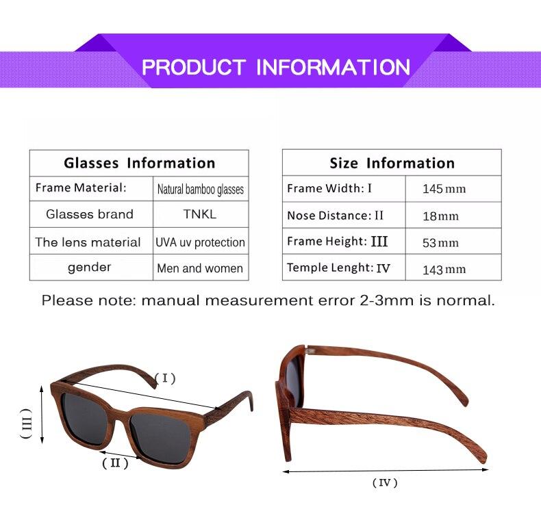 Black Walnut Unisex Polarized Wood Sunglass