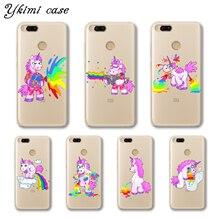 Ykimi Case Super cute Rainbow Unicorn Cover For Xiaomi Mi 5 6 6x A1 A2 8 Se Mix 2 2s Max 3 Transparent Soft TPU Silicone