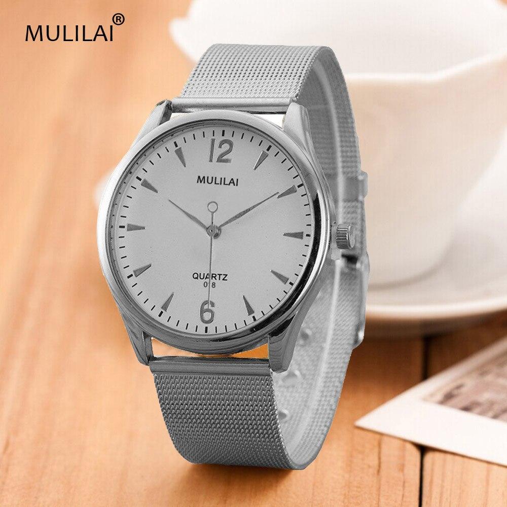 2017 New Luxury Brand MULILAI fashion women Sports Watches Steel Mesh belt Casual Watches Men quartz Waterproof Wrist watchs