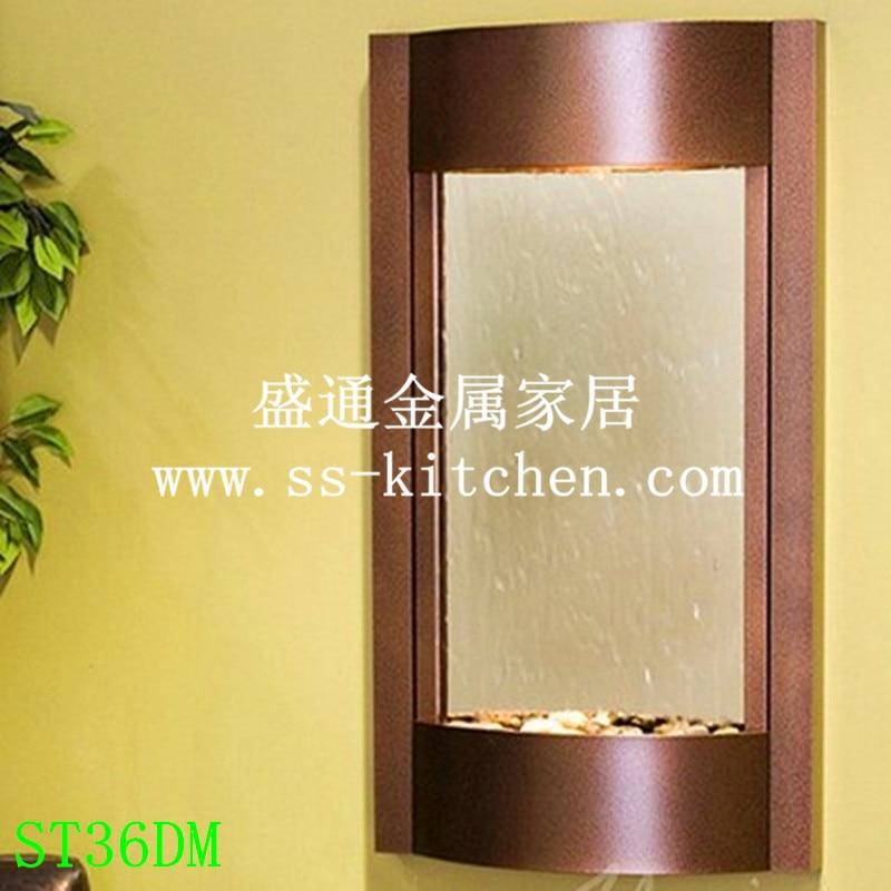 2015 Nieuwe Stijl wall mounted water fontein muur decor zilveren spiegel bronzen spiegel muurstickers art Decals home Decoratie - 4
