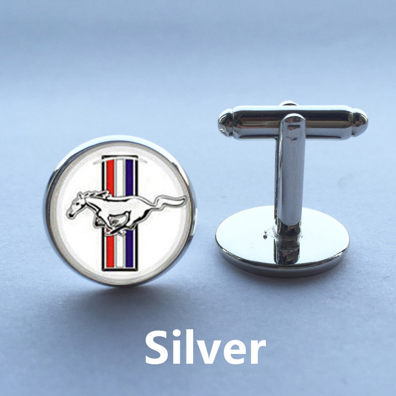 1 Pair Free Shipping Cuff Links Men Horse Cufflinks Ford Mustang Personalised