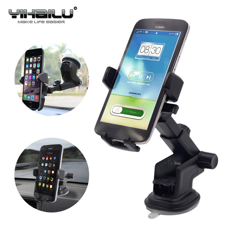 Autotelefonhalter Universal Klebrigen GPS Unterstützung Saug 360 Drehen Einstellbar 3,5-6 zoll Halterung Für iPhone Samsung Houder Titular