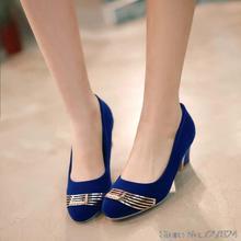 ปั๊มรองเท้าผู้หญิงหนังใหม่2016ส้นสูง5.5เซนติเมตรหนาส้นรองเท้าผู้หญิงกับรองเท้าส้นหลาขนาดเล็กEURขนาด30-50