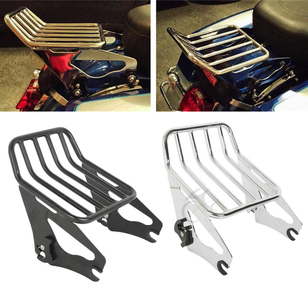 Motorcycle clDetachable Two Up Luggage Rack For Harley Touring Road King FLHR FLHRC 2009 2018 FLHR