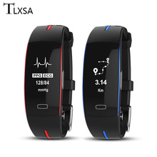 2019 New Pedometer Sports Smart Band ECG+PPG Blood Pressure Heart Rate Monitor Smart Bracelet IP67 Waterproof For IOS Android все цены