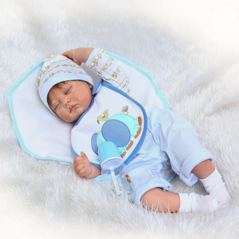 Pursue 22/55 cm Realistic Smile Face Close Eyes Silicone Reborn Doll Babies Sleeping Boy for Children Best Birthday Present Toy multi function survival shovel military with flashlight folding spade garden camping shovel snow hiking outdoor tool luxury gift