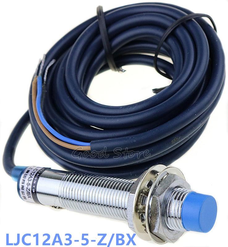 Емкостный датчик приближения с синей головкой, устройство для измерения расстояния, стандарт BX DC NPN NO 5 мм, три провода M12, 1 шт.