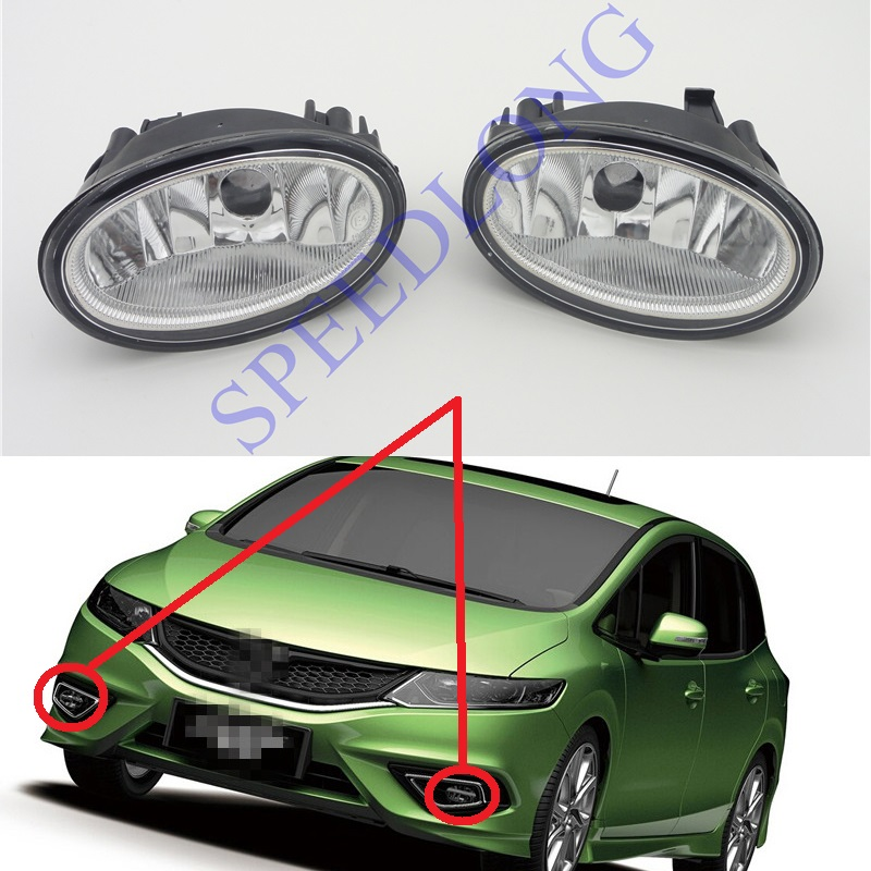 2 Pcs/pair without bulb RH and LH Front fog lights bumper driving lamps for HONDA JADE 2014-2016 1 pair 2 pcs rh and lh piano baking painted bumper triangle grille luxury high configuration for ford focus 3 iii 2012 2014