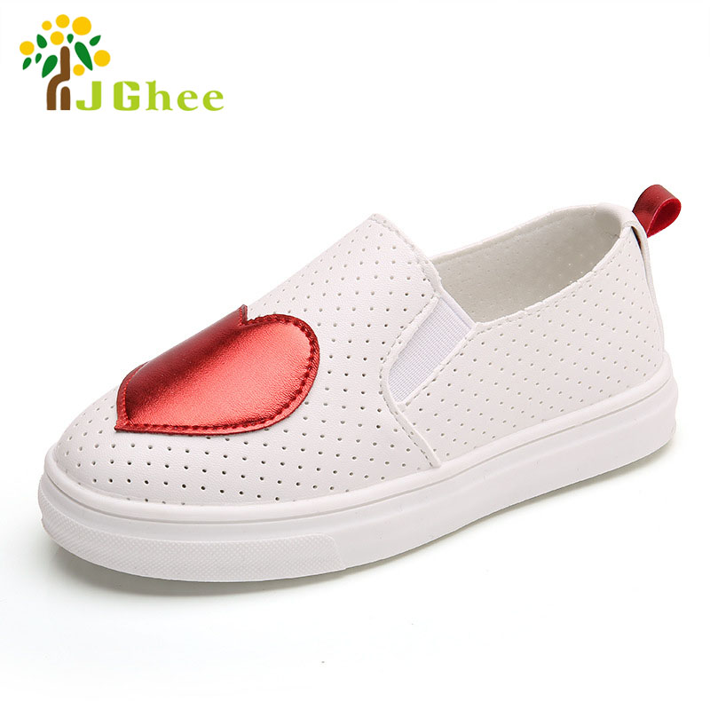 2017 обувь для детей для Обувь для мальчиков Обувь для девочек детей Повседневное Спортивная обувь из искусственной кожи без застежки мягкие Модная одежда для детей, Детская мода для девочек Обувь с сердцем 21 -36