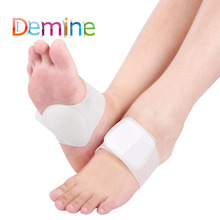 Demine Silicone Gel Bandage Arch Support for Flat Foot Feet Heart Pads Orthotics Corrector Strap Cushion Inserts Orthopedic Pad