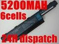 11 v 5200 mah batería para acer as10d31 as10d51 as10d81 as10d75 as10d61 as10d41 as10d71 aspire 4741 5742g 5552g 5742 5750g 5741g