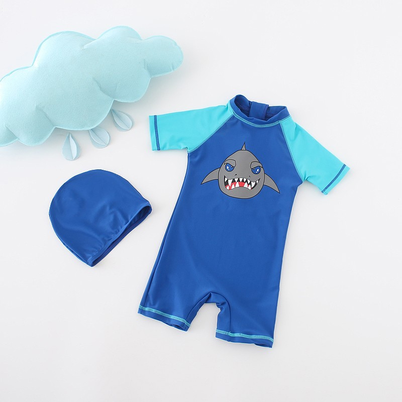 778bc4c51897 Children Swimsuit Baby Boy Sharks Swimwear Animal Sharks Swimsuit 2pcs  Infantil Baby Swimming Pool Clothes One Piece Swimsuit