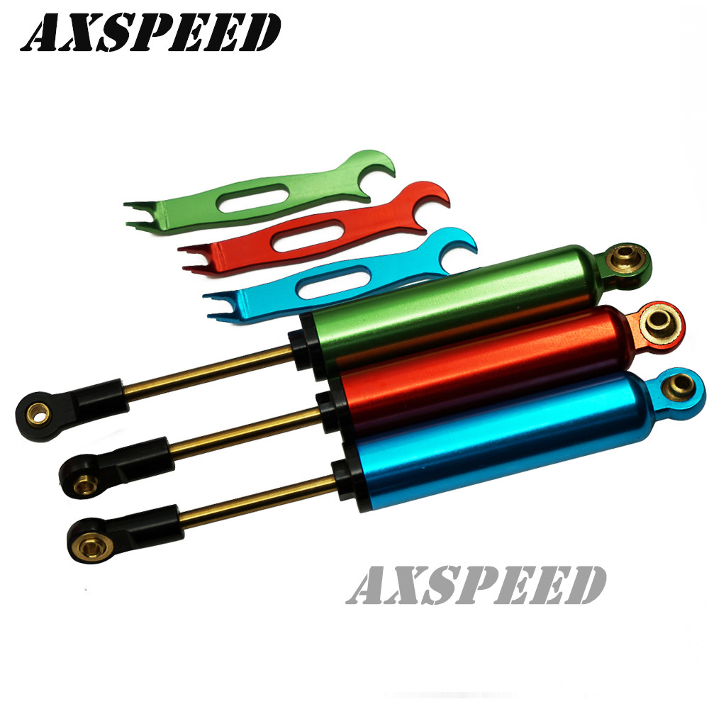 цены 120mm Piggyback Shock Absorbers Springs for 1/10 RC Crawler SCX10 RC4WD D90 CC01