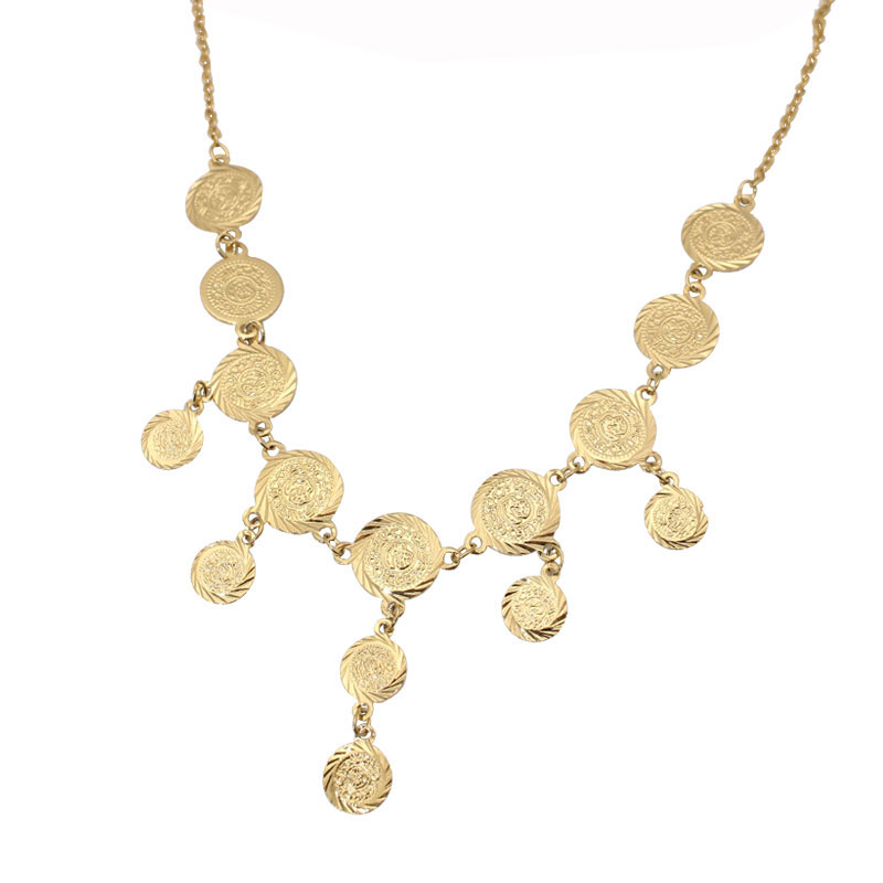 zkd islam muslim Turkey Coins Arab Coins necklace necklace Length 46 cm / 18.11 inch  Turks Africa Party jewerly
