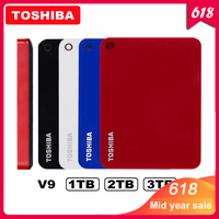 100% Toshiba Canvio Advanced V9 USB 3.0 2.5 1TB 2TB 3TB HDD Portable External Hard Drive Disk Mobile 2.5 For Laptop Computer