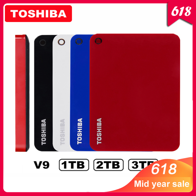 """100% Toshiba Canvio Cao Cấp V9 USB 3.0 2.5 """"1 TB 2 TB HDD 3 TB Ổ Cứng Di Động Gắn Ngoài Ổ đĩa Di Động 2.5 Cho Máy Tính Laptop"""