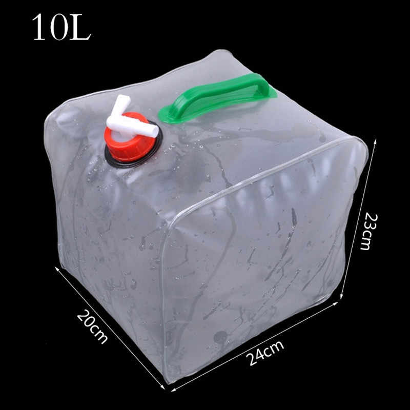 Outdoor 10L water storage bag collapsible bucket car water bag Auto supplies fishing bucket outdoor water storage bag
