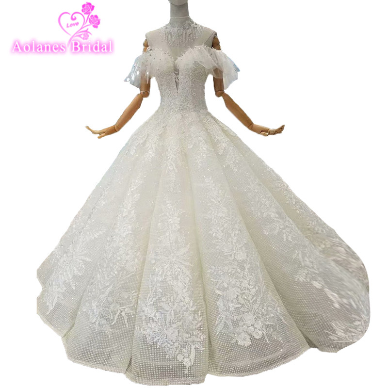 2018 Luxury Nature White Lace Sleeveless Sweetheart Bridal Gowns Floor-length Backless Vintage Wedding Dresses Vestido De Noiva