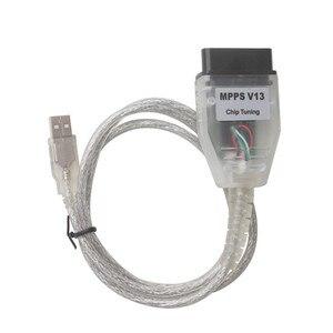 Image 4 - Wysokiej jakości MPPS V13 ECU Chip tuning Smps Mpps K może Flasher Mpps V13.02 przez 16pin na USB PC skaner narzędzie diagnostyczne do samochodów
