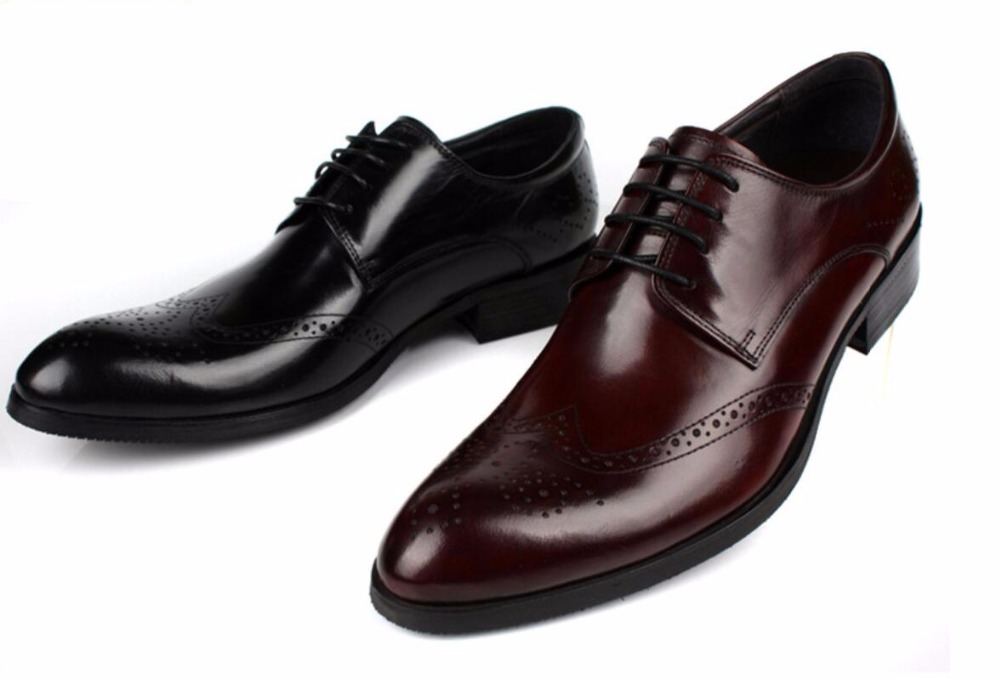 Burgundy Black Man Wedding Dress Leather Shoes Oxfords 2018 Lace Up Spring Autumn Business Formal Driving Oxfords Shoes Size 45 urbanfind fashion men brand oxfords quality leather shoes size 37 44 for spring summer autumn casual lace up man footwear