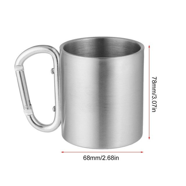 Stainless Camping Cup with Carabiner: Best Camping Gears