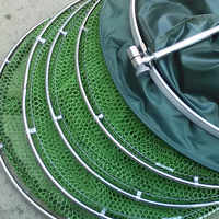Double Stainless Steel Rings 5 Layers Collapsible Fish Care Net Folding Shrimp Minnow Fishing Trap Dip Net Cage 50kg Load B099