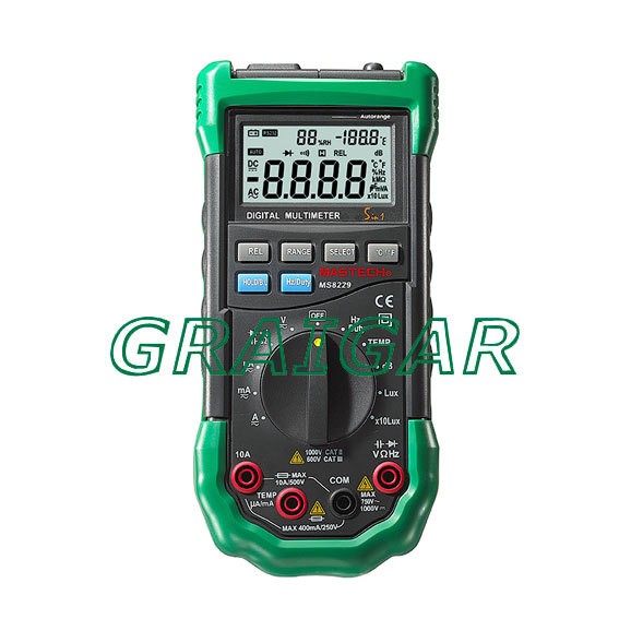 New MS8229 5 in 1 Multimeter Lux Humidity Sound Meter сигнализатор поклевки hoxwell new direction k9 r9 5 1