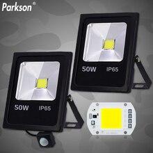 Cảm Biến Chuyển Động Đèn Led 220V 50W 30W 10W Chống Nước IP65 Phản Quang Pha Đèn Foco LED bên Ngoài Điểm Ánh Sáng Ngoài Trời