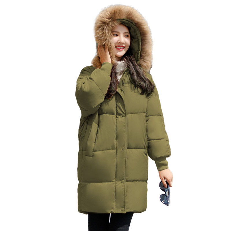 Parka Women Winer Coat Hooded Long Sleeve Zipper Female Quilted Jackets Thicken Warm Down Cotton Wadded Coat Hot Sale nike alliance parka 550 hooded