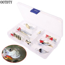 OOTDTY 15 Pcs/set Fishing Baits Sequins Set Variety Type Sequin Hook With Box Bait Tool Tackle Accessories