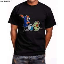Dick Dastardly & Muttley Hanna Barbera Short Sleeve Men's Black T-Shirt S-5XL(China)