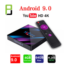 android box smart tv 9.0 h96 usb 3.0 RK3318 4k HDMI 2.0 Smart TV Box google Speler Winkel Netflix Youtube