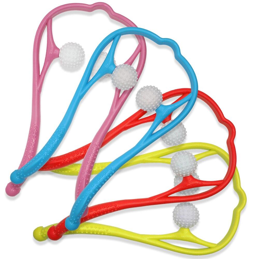 Aptoco Neueste Hals und Schulter Hals Schmerzen Therapeutische Dual Trigger Punkt Selbst-Massage Werkzeug Tragbare Großhandel