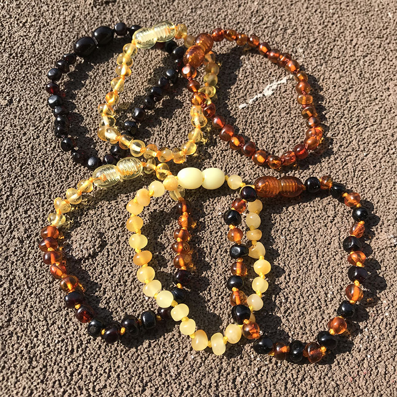 HTB1NmzzLNTpK1RjSZFKq6y2wXXaM Yoowei 6 Colors Natural Amber Bracelet/Anklet Chic Women Amber Bracelet Baltic 4mm Small Beads Baby Teething Jewelry Wholesaler